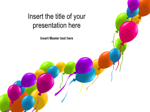 balloons  free powerpoint template, Powerpoint