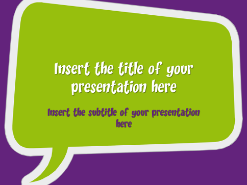 speech bubbles – free template for powerpoint and impress, Modern powerpoint