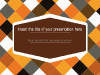 Brown Squared Pattern - template for Powerpoint - screenshot01