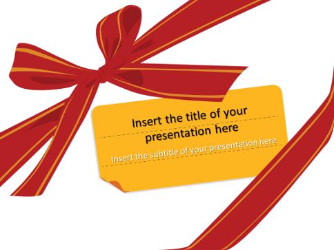 Cadeau ruban et noeud mod le pour powerpoint et impress - Open office impress telecharger gratuit ...