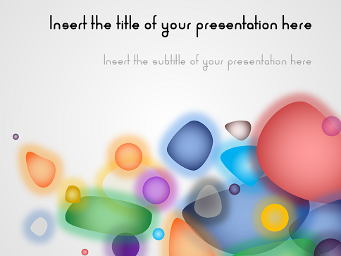 bubbly free template for powerpoint and impress