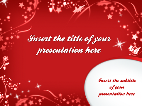 merry christmas – template for powerpoint and impress, Powerpoint templates