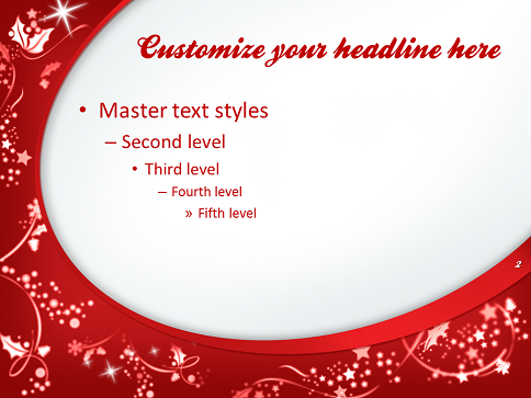 merry christmas  template for powerpoint and impress, Powerpoint