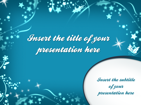 merry christmas � template for powerpoint and impress