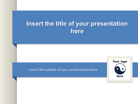 Simple Banner Free Template For Powerpoint And Impress