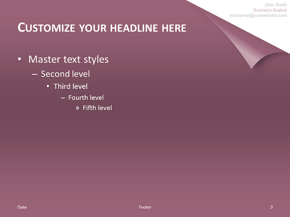 Turn The Page - Template for PowerPoint (Purple)