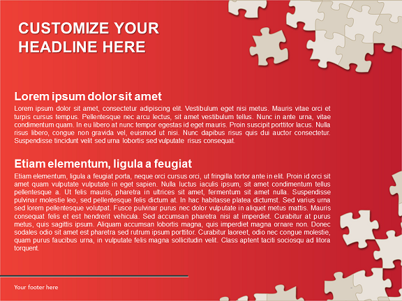Puzzle Template for PowerPoint and Impress – Puzzle Powerpoint Template