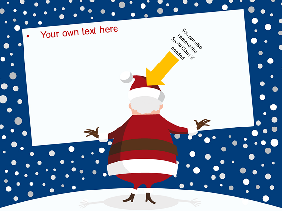 christmas template for powerpoint and impress, Powerpoint