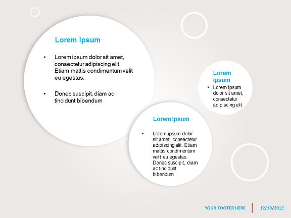 mod u00e8le abstrait avec bulles pour powerpoint