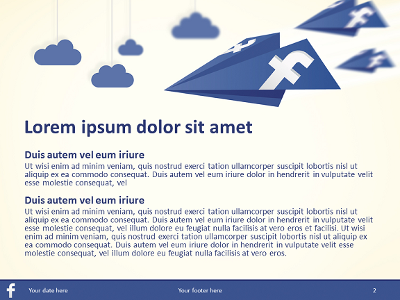 Powerpoint Facebook Template. free fortune 500 companies ...
