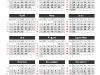 Simple Calendar 2014 for PowerPoint - slide1