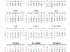 Simple Calendar 2014 for PowerPoint - slide2