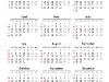 Simple Calendar 2014 for PowerPoint - slide4