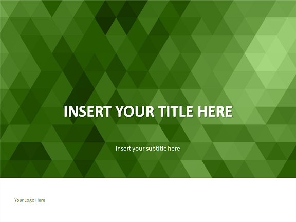 green mosaic powerpoint template, Powerpoint