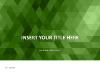 Green Mosaic PowerPoint Template - slide1