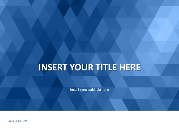 blue mosaic powerpoint template, Blue Presentation Template, Presentation templates
