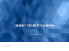 Blue Mosaic PowerPoint Template - slide1