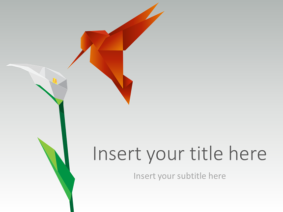 Origami Bird PowerPoint Template