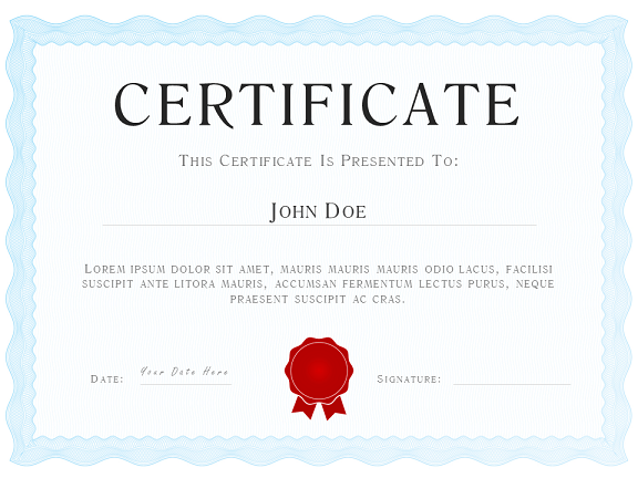 certificate / diploma template, Powerpoint