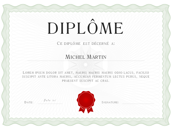 diplome word gratuit