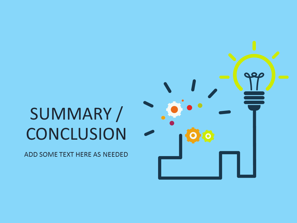 title slide powerpoint template summary conclusion