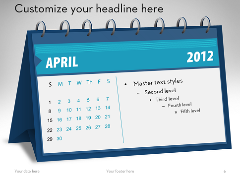 Free Calendars 2012 for PowerPoint
