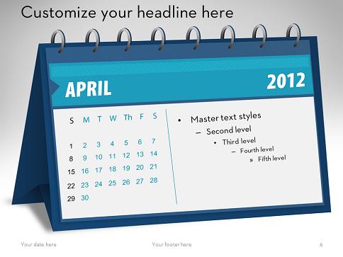 calendars in powerpoint