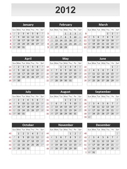 Calendrier 2012 - Creer son calendrier ...