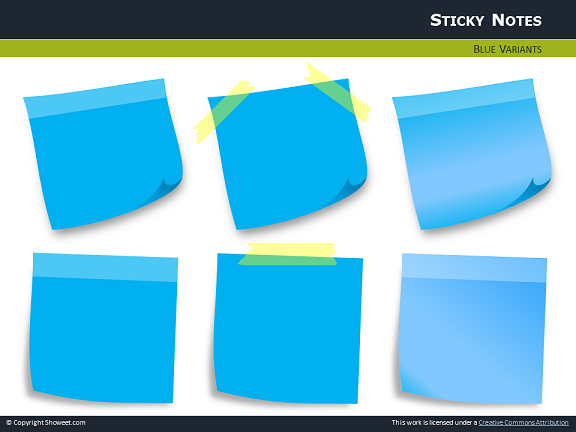 Sticky Notes With Pins For PowerPoint – Sticky Note Template