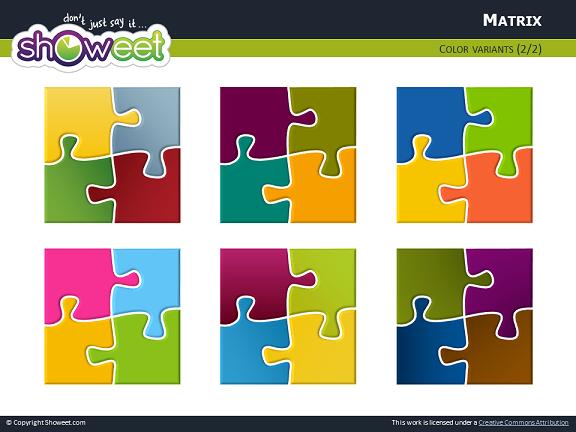 Puzzle Matrix Powerpoint