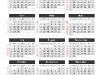 Simple Calendar 2013 for PowerPoint - slide1
