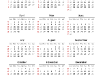 Simple Calendar 2013 for PowerPoint - slide2