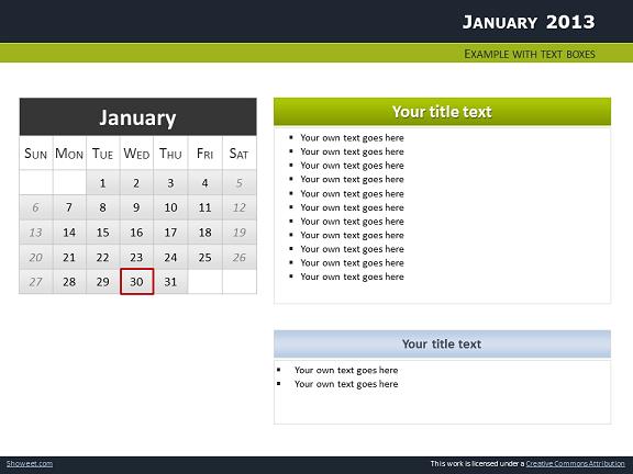 Calendar 2013 for powerpoint full pack calendars 2013 templates for powerpoint slide05 toneelgroepblik Gallery