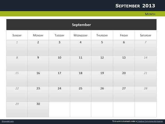 Calendar 2013 for powerpoint full pack calendars 2013 templates for powerpoint slide14 toneelgroepblik Choice Image