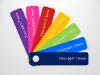 Color Fan Guide Menu for PowerPoint - slide1