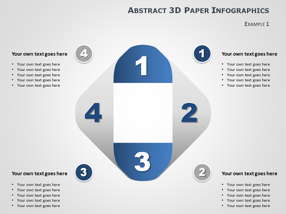 Infographic Ideas 3d paper infographic powerpoint template free download : 3D Paper Diagram for PowerPoint