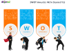 SWOT Analysis with Silhouettes for PowerPoint-slide13