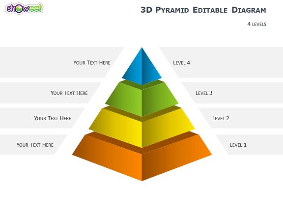 d pyramid diagrams for powerpoint, Powerpoint