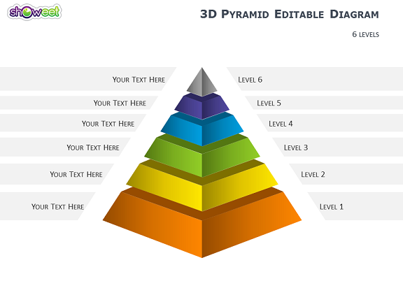 3d Pyramid Diagrams For Powerpoint