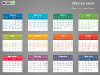 Colorful 2015 Calendar for PowerPoint-slide2