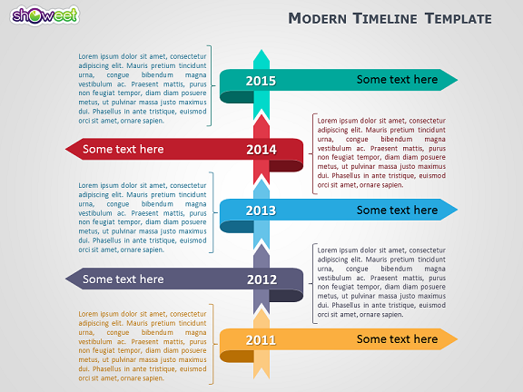 Modern timeline template for powerpoint for Ms powerpoint timeline template