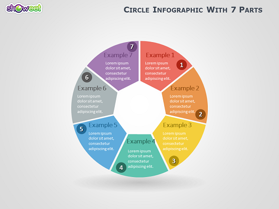 Circle infographic with 7 parts for powerpoint ccuart Images