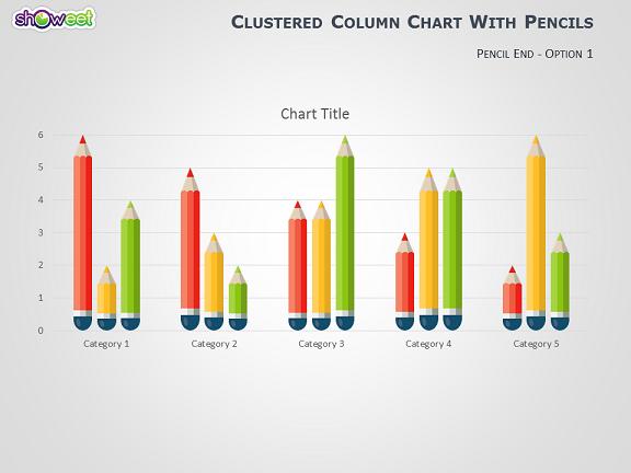 pencils datadriven powerpoint graphs