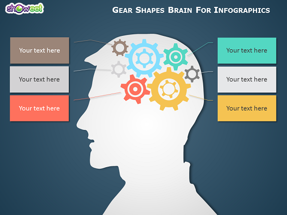 Gear Brain Infographics for PowerPoint