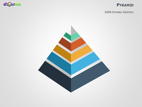 pyramid infographics powerpoint diagram