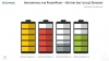 Infographics Batteries w/ levels diagram template for PowerPoint