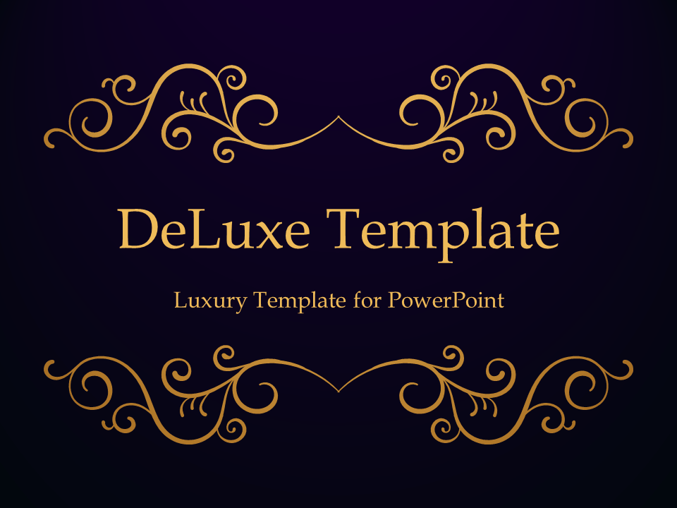 deluxe luxury powerpoint template. Black Bedroom Furniture Sets. Home Design Ideas