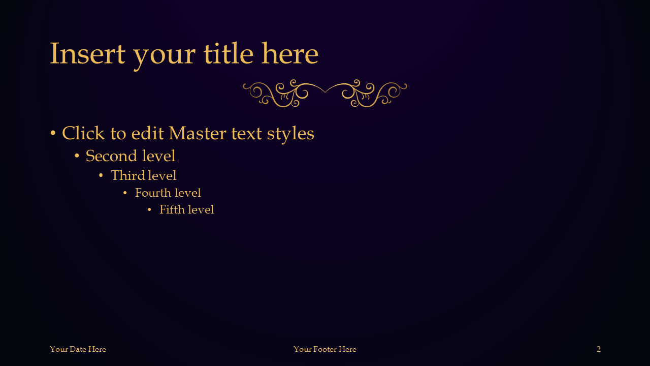 DeLuxe - Luxury PowerPoint Template