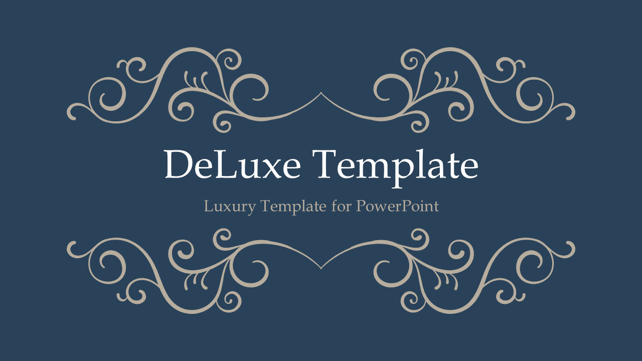 DeLuxe PowerPoint Template 3 Blue Widescreen
