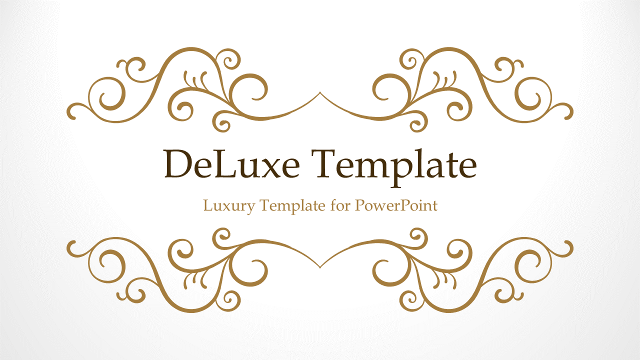 deluxe powerpoint template 5 gray widescreen